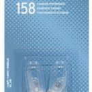 SYLVANIA 158 Basic Miniature Bulb, (Pack Of 2)