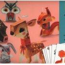 Djeco / Folded Paper Toy Kit Pretty Woodland Animals