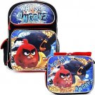 Angry Birds Movie Large School Backpack 16in Bag Lunch Bag 2pc Set Why So Angry