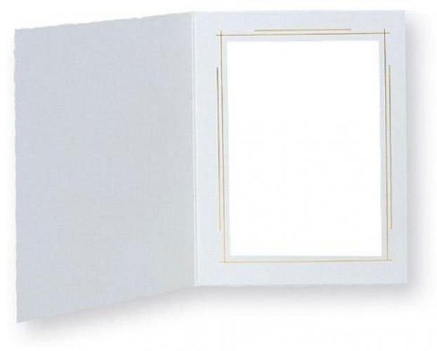 TAP Picture Folder Frame Whitehouse, White / Gold, For 5x7 Photo. (10 Pack)