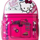 Hello Kitty Little Girls Composition 15 Backpack With Lunch Kit, Pink/Black, 15