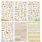 ONOR-Tech 6 Sheets Lovely Cat Decorative Adhesive Sticker Tape / Kids Craft Set