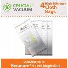 Kenmore 51195 Allergen Cloth 4-Pack Vacuum Bags