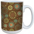 Tree-Free Greetings 79220 Multi Dot Brown By Debbie Mumm Ceramic Mug With