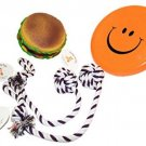 Everlast Pet Toys | Best Chew and Squeak Bundle For Dogs | 'Fat' Cheeseburger |