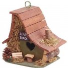 Love shack romantic small Wood folk art fairy Bird house decorative birdhouse