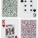 Copag Bridge Size Jumbo Index 1546 Playing Cards (Green Burgundy Setup)