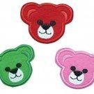 3 Pieces TEDDY BEAR Iron On Patch Fabric Applique Motif Children Decal 2.1 X X