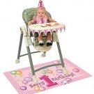 Girl 1st Birthday High Chair Decorating Kit