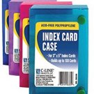 C-LINE Polypropylene Index Card Case For 100 3 X 5 Inch Cards, Assorted