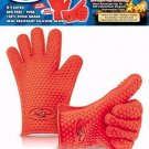 Heat Resistant Silicone BBQ Gloves - Best Oven Gloves - Best Grill Gloves , For