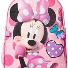 Disney Little Girls Minnie Polka Dot Backpack With Lunch, Pink, One Size