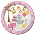 Creative Converting 8 Count Paper Dinner Plates, Happi Woodland Girl