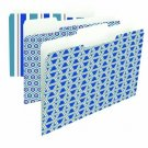 Smead Fashion Collection File Folders, 1/3-Cut Tab, Letter Size, Brussels, 6