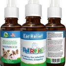 Ear Mites, Dog Ear Infection Natural Ear Relief For Dogs, Dog Ear Care, 30ml No