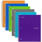 Five Star Spiral Notebooks, 1 Subject, 100 College Ruled Sheets, Assorted Trend