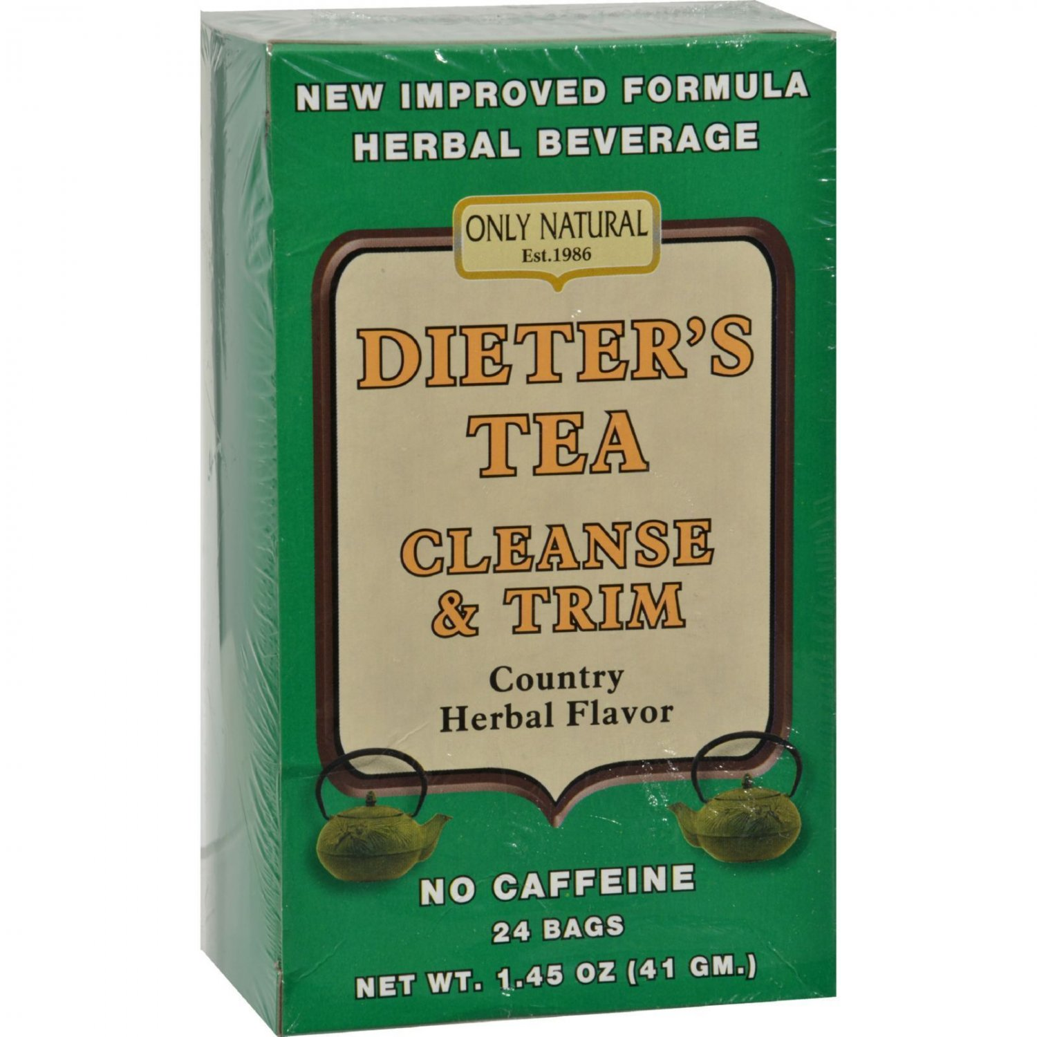 Only Natural Dieter's Tea Cleanse and Trim Country Herbal - 24 Tea Bags