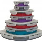 Smart Planet Eco Collapsible 14 Piece Food Storage Set, 399 Oz, Assorted