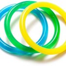 Dr. Bloom's Chewable Jewels 3 Count Infant/Juvenile Bracelets, Green, Yellow,