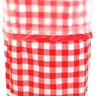 Flings Bin Gingham Patented 13 Gallon Pop Up Trash Bin For Parties, Picnics And