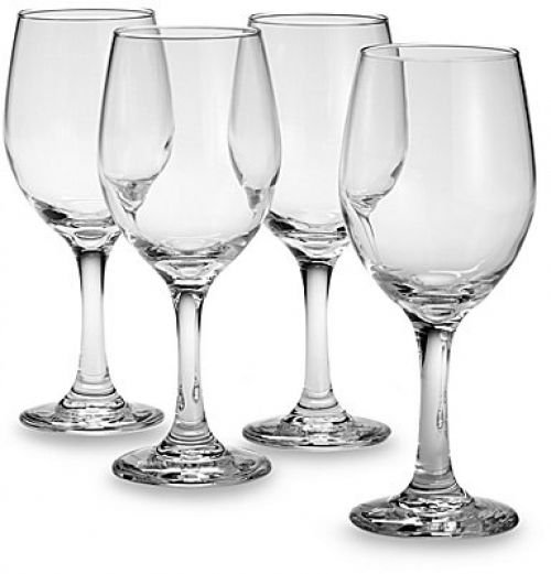 Libbey Set Of 4 Clear Red White Wine Glasses, 11-ounce, Classic Round, Chip