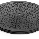 Aleratec 12-inch Round Heavy Duty Swivel Rotating Stand With Steel Ball For