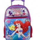 Disney Little Mermaid Ariel 16 Large Rolling Backpack For Girls