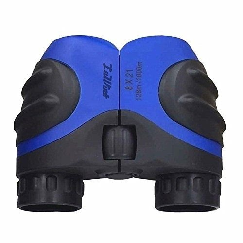 Luwint 8 X 21 Blue Kids Binoculars For Bird Watching, Watching Wildlife Or Mini