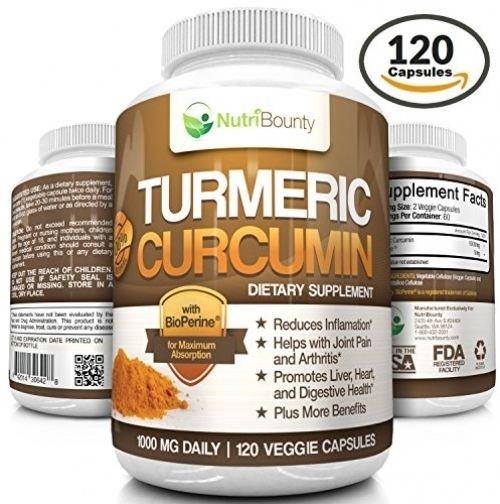 Turmeric Curcumin With BioPerine® (Black Pepper) - 1000mg Per Serving (120    