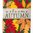 Welcome Autumn Vertical Flag Size: 54 H X 36 W