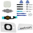 Zeetron Replacement Home Button White For Iphone 5 + Flex + Metal Piece + 2 + +