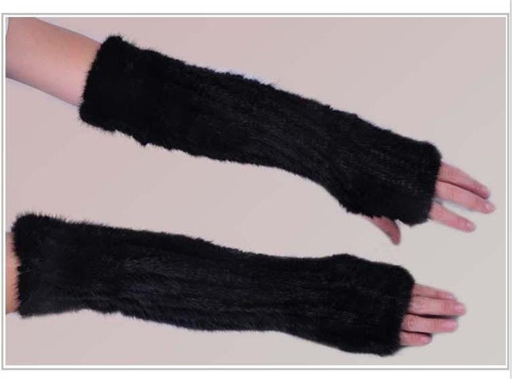 40cm Brown /Black mink fur arm warmer pattern