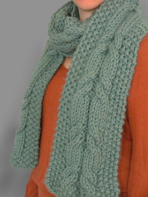 Sky Cable Scarf