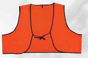 Economy Orange Disposable PVC Safety Vest With Ties Case of 250