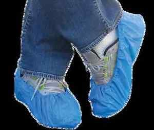 Disposable Polyethylene .055 MM Shoe Cover  Size Large (Sold by Case of 1000)