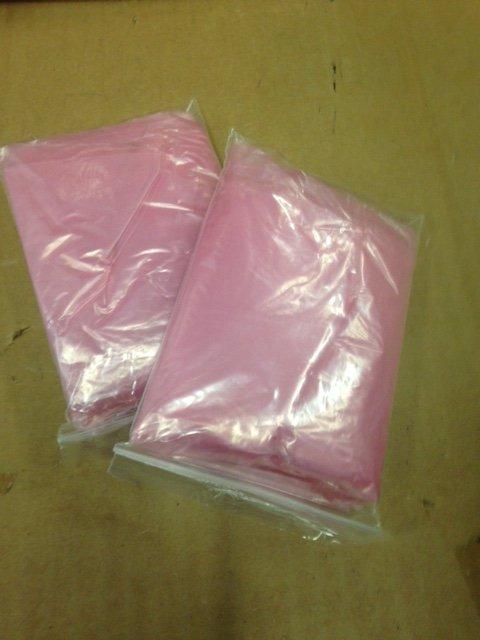 Pink Emergency Disposable Polyethylene Poncho .02 MM Case of 200