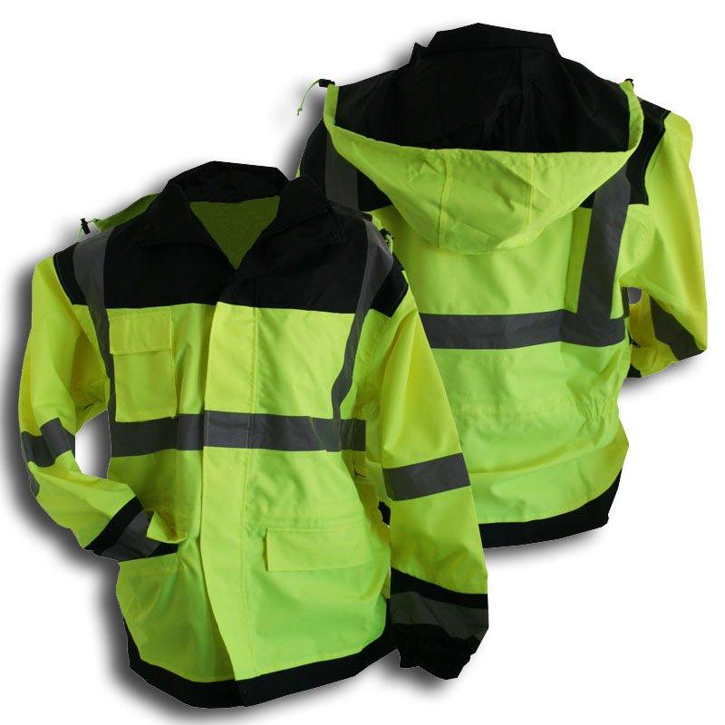 Class 3 Rainjacket With Black Accents Size Medium