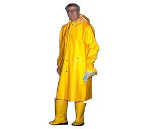 Yellow Rain Coat, 48 Inch With Detachable Hood