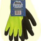 """Deep Freeze"" Winter Lined Hi Viz Knit Glove, Black Palm, Size 2X Sold by Dozens"