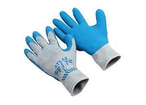 ATLAS Fit Blue Latex Coated Palm Glove, Sold by the Dozen, Size Small