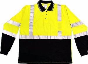 Class 2 Hi Vis Long Sleeve Polo Shirt
