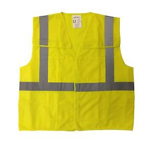 Class 2 Solid Lime Tear Away Safety Vest
