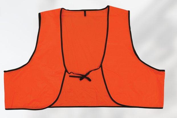 Economy Orange Disposable PVC Safety Vest With Ties Case of 250