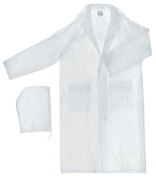 49 Inch Clear Rain Coat, Size X-Large