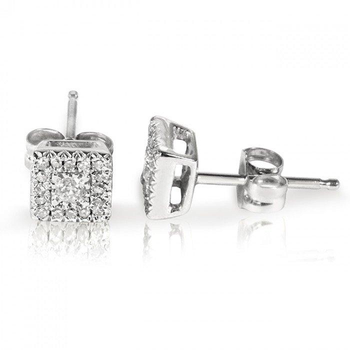 ROUND DIAMOND EARRINGS 1/6 CARAT (CTW) IN 10K WHITE GOLD