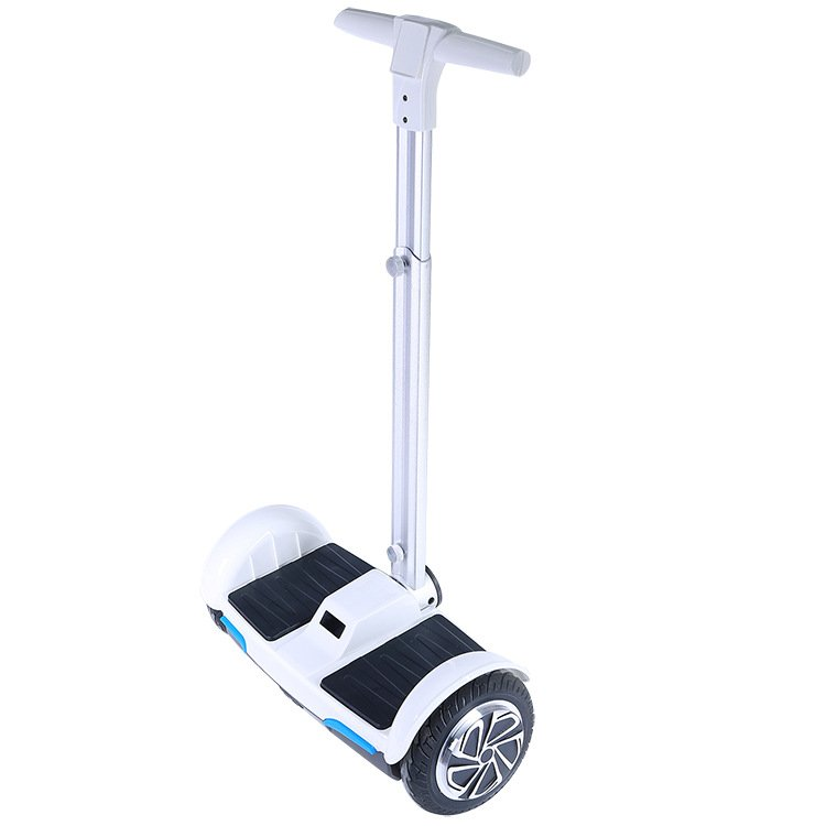 F1 Electric Scooters Smart Hoverboard With Handle Bar White