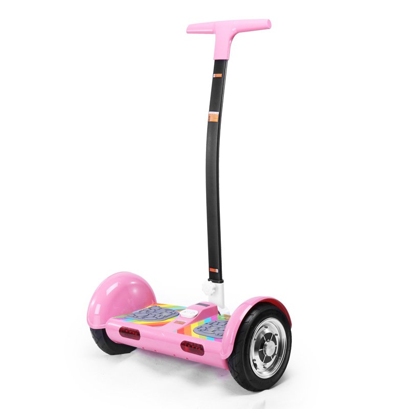 tt electric scooters smart hoverboard with handle bar pink. Black Bedroom Furniture Sets. Home Design Ideas