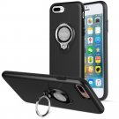 360 Degree Rotating Ring Grip Case for iPhone 7 Plus Black