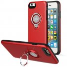 360 Degree Rotating Ring Grip Case for iPhone 6 Red