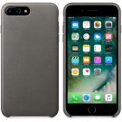 Genuine Leather Hard Back Case Protective Slim Cover for iPhone 7 Plus Gray